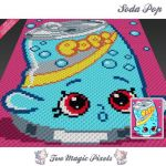 Soda Pop Shopkins Inspirational Happy Snail Crochet Blanket Pattern Knitting Cross Stitch Graph Pdf