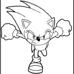 Sonic Coloring Games Beautiful sonic Running Printable Coloring Picture for Kids