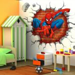 Spiderman Pictures for Kids Inspiring 45 50cm 3d Spiderman Cartoon Movie Hreo Home Decal Wall Sticker for