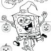 Spongebob Halloween Color Pages Pretty Happy Halloween Pumpkin Coloring Pages – Odni