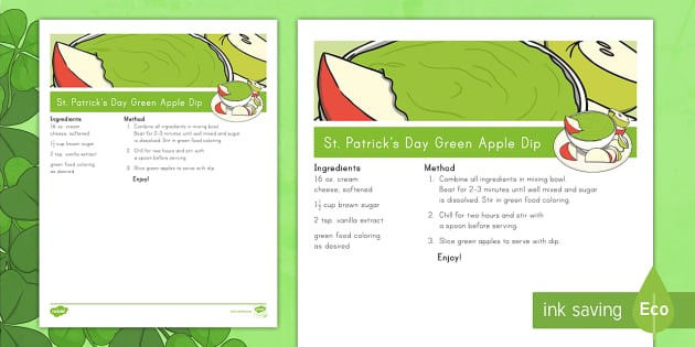St Patrick Day Coloring Sheets Amazing St Patrick S Day Green Apple Dip Recipe St Patrick S Day Green