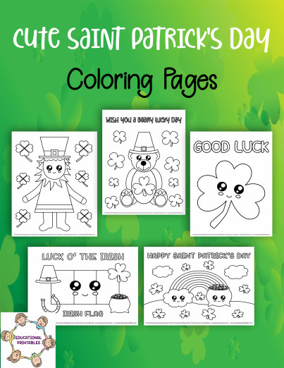 St Patrick Day Coloring Sheets Awesome Cute Saint Patrick S Day Coloring Pages