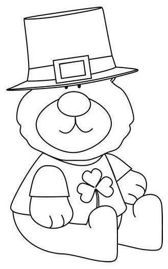 St Patrick Day Coloring Sheets Awesome Saint Patrick S Day Bear Coloring Page St Pat S