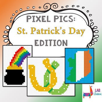 St Patrick Day Coloring Sheets Beautiful Pixel Pics St Patrick S Day Edition by Lab Llama