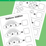 St Patrick Day Coloring Sheets Creative Simple St Patricks Day Math Printables Simply Kinder