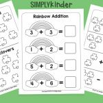 St Patrick Day Coloring Sheets Pretty Simple St Patricks Day Math Printables Simply Kinder