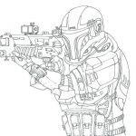 Star Wars Coloring Poster Amazing Star Wars Republic Mando Coloring Pages