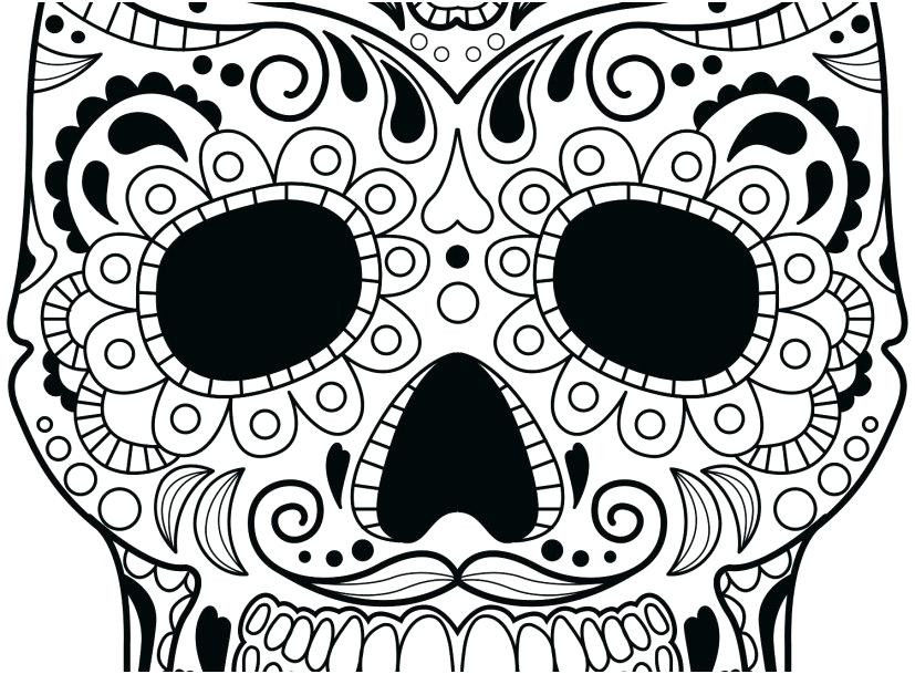 Simple Candy Skull Drawing
