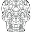 Sugar Skull Color Marvelous Rainbow Coloring Pages Free Pot Gold Template Printable