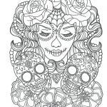 Sugar Skull Coloring Awesome Cool Sugar Skull Coloring Pages Ideas