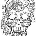 Sugar Skull Coloring Awesome Day the Dead Coloring Pages Unique Sugar Skull Mandala Coloring