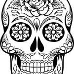 Sugar Skull Coloring Best Of Unique Roses and Skulls Coloring Pages – C Trade