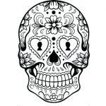 Sugar Skull Coloring Fresh Sugar Skull Makeup Template Coloring Sheets Blank Pages This is Pic
