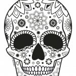 Sugar Skull Coloring Page Awesome Coloring Flower Skull Coloring Book Mexican Head Skeleton Vector