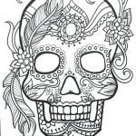 Sugar Skull Coloring Page Awesome Flowers Coloring