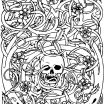 Sugar Skull Coloring Page Awesome Lovely Sugar Skull with Flowers Coloring Pages – Nicho