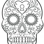 Sugar Skull Coloring Page Awesome Luxury Day Dead Skull Coloring Pages – Kursknews