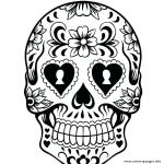 Sugar Skull Coloring Page Inspirational Sugar Skull Simple – topolcanykings