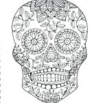 Sugar Skull Coloring Page Unique Sugar Skull Colouring Pages – 488websitedesign