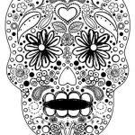 Sugar Skull Coloring Pages Best Celebrate the Day Of the Dead with Scrapbook Paper Arts and Other