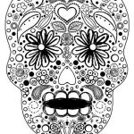 Sugar Skull Coloring Pages for Adults Amazing Celebrate the Day Of the Dead with Scrapbook Paper Arts and Other
