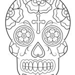 Sugar Skull Coloring Pages for Adults Awesome Calavera Sugar Skull Coloring Page From Sugar Skulls Category