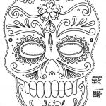 Sugar Skull Coloring Pages for Adults Beautiful Pin by Debbie Wise On Crafts