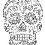 Sugar Skull Coloring Pages for Adults Best Coloring Page Incredible Sugar Skull Coloring Pages Page Awesome