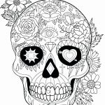 Sugar Skull Coloring Pages for Adults Best Skull Coloring Pages for Adults Unique Coloring Simple the Best Free