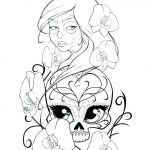 Sugar Skull Coloring Pages for Adults Excellent Sugar Skull Colouring Pages – 488websitedesign
