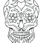 Sugar Skull Coloring Pages for Adults Inspirational Sugar Skull Coloring Sheets