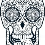 Sugar Skull Coloring Pages for Adults Inspired Adult Sugar Skull Coloring Pages Free Coloring Sheets