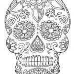 Sugar Skull Coloring Pages Inspired Coloring Page Sugar Skull Coloring Pages Page Incredible