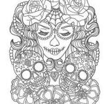 Sugar Skull Coloring Pages Pdf Free Download Awesome 583 Best Day Of the Dead Skull Images In 2018