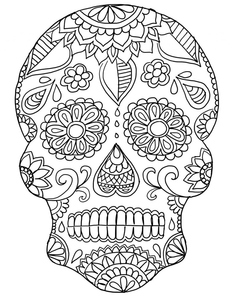 Sugar Skull Coloring Pages Pdf Free Download Awesome Coloring Page Free Sugar Skullloring Pages Pdf Printable for