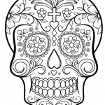 Sugar Skull Coloring Pages Pdf Free Download Best Coloring Page Incredible Sugar Skull Coloring Pages Page Free
