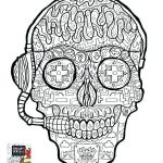 Sugar Skull Coloring Pages Pdf Free Download Best Coloring Pages Skulls Skull for Adults Sugar Color and