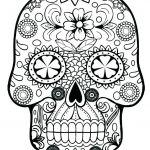 Sugar Skull Coloring Pages Pdf Free Download Best Printable Watercolor Pages at Getdrawings