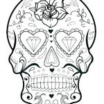 Sugar Skull Coloring Pages Pdf Free Download Elegant Blank Sugar Skull Template
