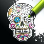 Sugar Skull Coloring Pages Pdf Free Download Elegant October 2018 – Page 3 – Littapes