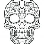 Sugar Skull Coloring Pages Pdf Free Download Inspired Skulls Coloring Pages – Vitalmethod