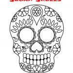Sugar Skull Coloring Pages Pdf Free Download Inspiring Day Of the Dead Sugar Skulls 5 Designs to and Colour Pdf