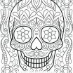 Sugar Skull Coloring Pages Pdf Free Download Marvelous Free Color Pages for Adults – Trustbanksuriname
