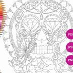 Sugar Skull Coloring Pages Pdf Free Download Marvelous Sugar Skull Coloring Page for Adults Halloween Coloring