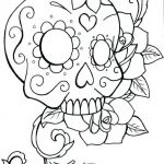 Sugar Skull Coloring Pages Pretty Beautiful Skull Candy Coloring Pages Nocn