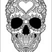 Sugar Skull Coloring Pages Printable Free Unique Coloring astonishing Best Adult Coloring Pages Picture Ideas Skull