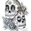 Sugar Skull Couple Tattoo Inspirational Sugar Skull Tattoo Line Drawing Rose Tatoo