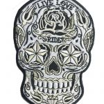 Sugar Skull Owls Best 2019 wholesale Live Love Ride Sugar Skull Embroidered Patch Iron