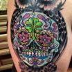 Sugar Skull Owls Creative Of Sugar Skull Owl Tattoo Black and White Rock Cafe