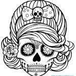 Sugar Skull Pictures to Color Awesome Sugar Skull Coloring Pages